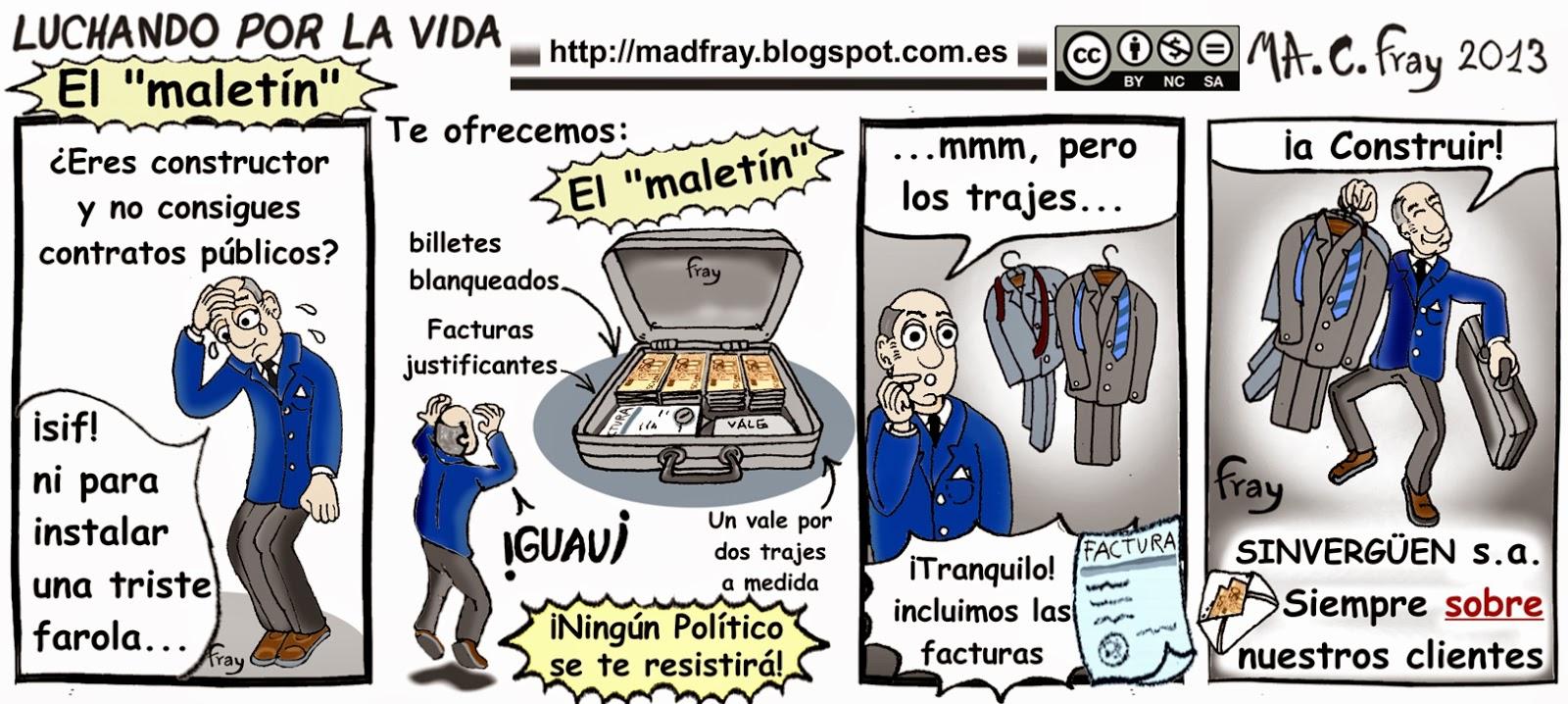 Viñeta de Humor: Las bolsas de basura no tienen ningún glamour, ¿Qué sería de la corrupción, sin los maletines? Mad Fray