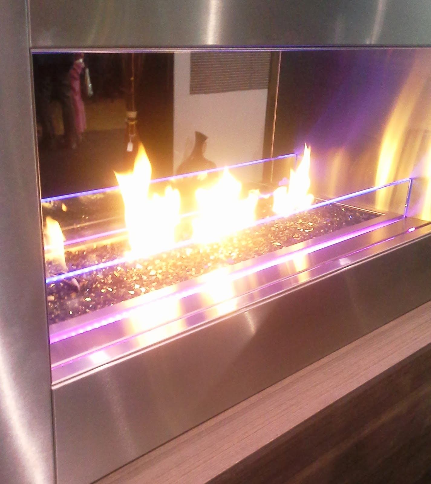 Purple Fireplace at The Interior Design Show in Toronto, fashion, interior design blogger style Melanie.Ps The Purple Scarf