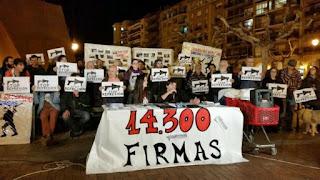 14.300 firmas en apoyo a los acusados por el 14N