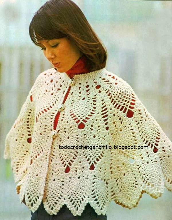 Moldes capa crochet