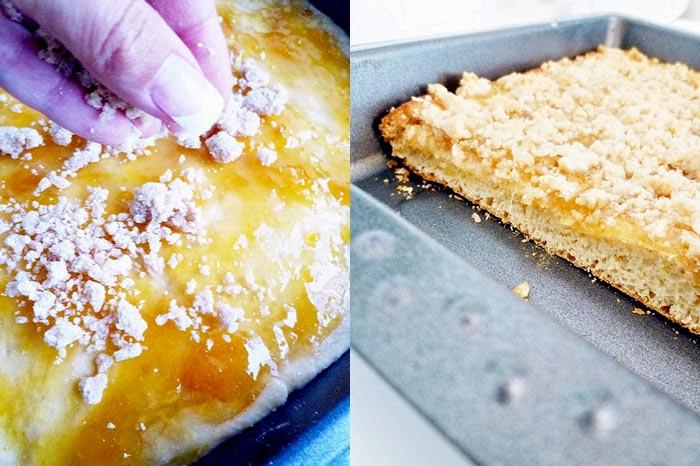 Mango-Nektarinen Streuselkuchen