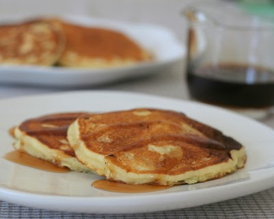 Make Tuesday night (or any night) a Pancake Night! My mom's recipe for light and fluffy buttermilk pancakes or sweet-milk pancakes. Recipe includes tips & ideas for new cooks. For Weight Watchers, just #PP3.