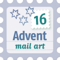 advent mail art 2016