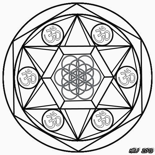 Mandalas - MRU - : MANDALAS Simbolo OM y FLOR de la VIDA para pintar