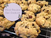 Choc-Raisin Oat Cookies Recipe