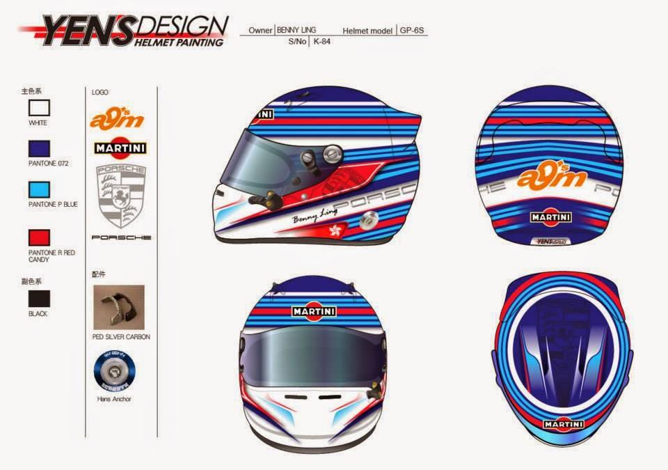 Arai GP-6S B.Ling 2014 by Yen's Design Helmet Painting