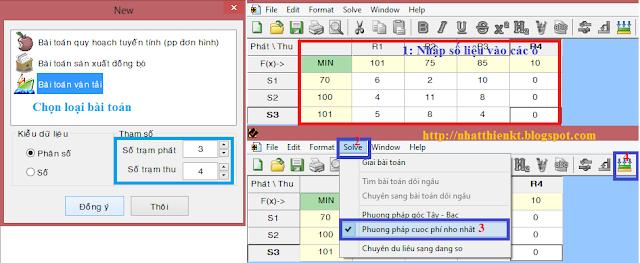 Hướng dẫn sử dụng phần mềm QHTT giải bài toán vận tải