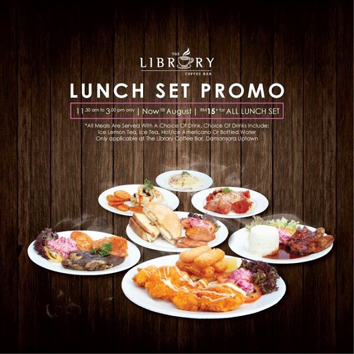 The Library Coffee Bar Lunch Promo