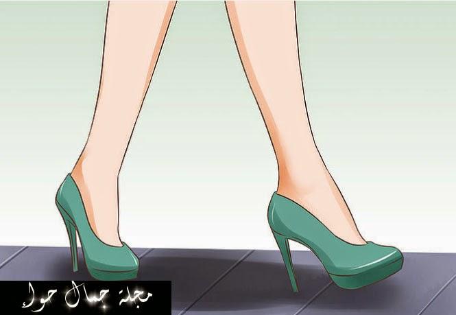 بالصور: 10 حيل لإتقان طريقة المشي بالكعب العالي Tips on How to Walk in High Heels