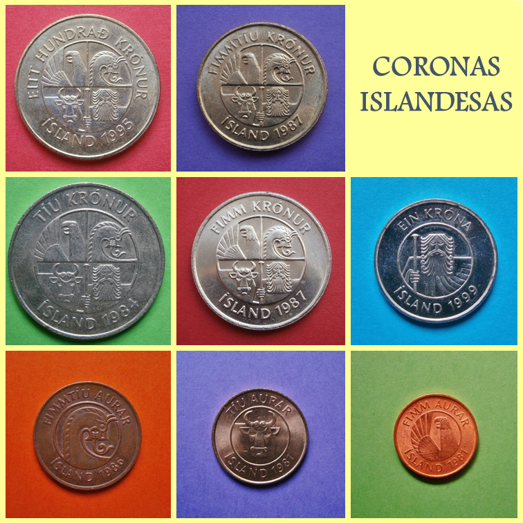 Anverso Coronas Islandesas
