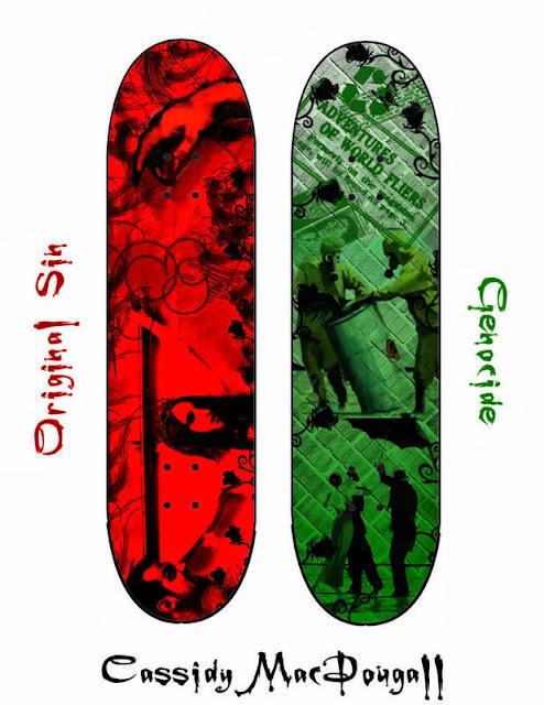 Ilustração de prancha de skate