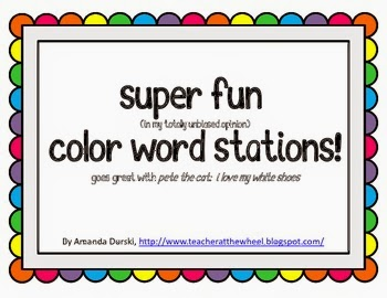http://www.teacherspayteachers.com/Product/Color-Word-Stations-goes-great-with-Pete-the-Cat-791981