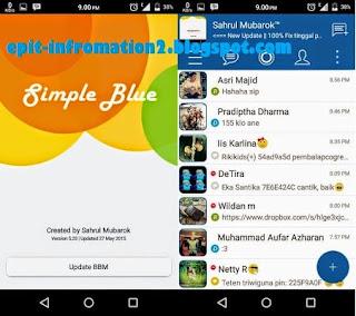 BBM Mod Simple Blue apk Versi 2.8.0.21