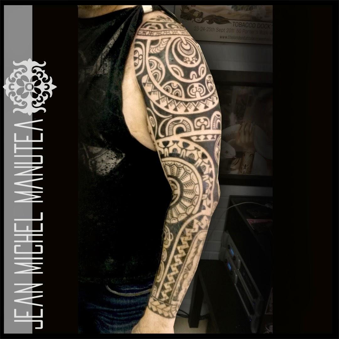 Tatouage polynesien polynesian tattoo april 2015 - Tatouage bras homme tribal ...