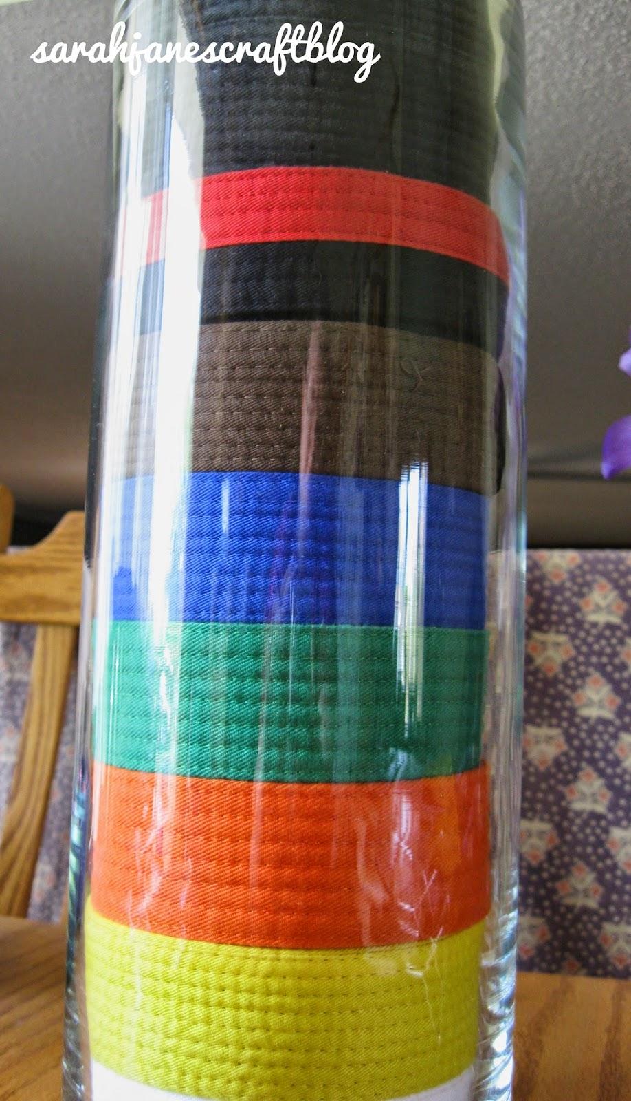 Martial Arts Belts Display Vase
