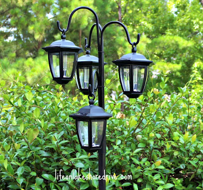 Diy solar lights lamp post life on lakeshore drive outdoor diy solar light lamp post with flower planter aloadofball