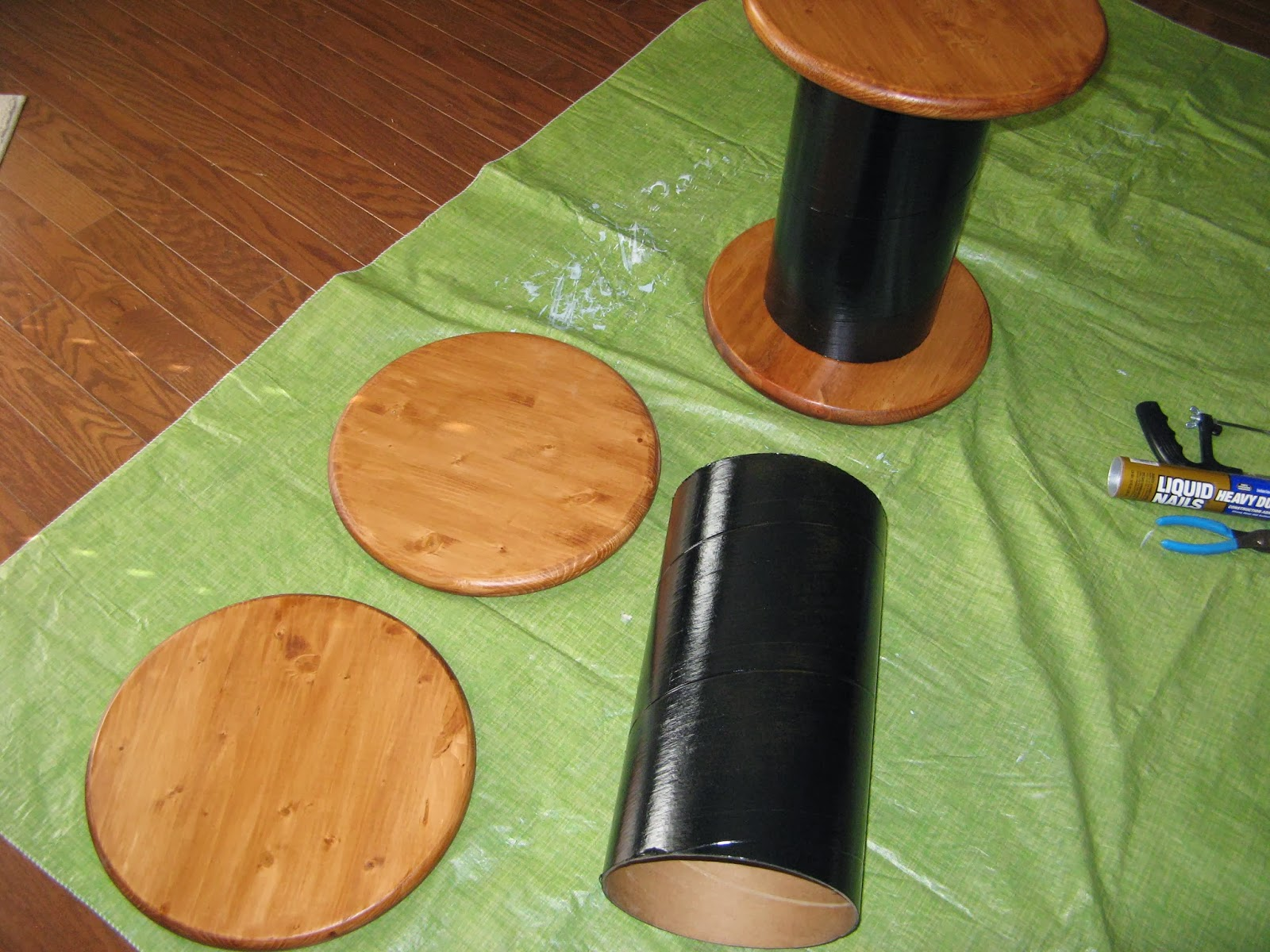DIY Spool Table - assembly