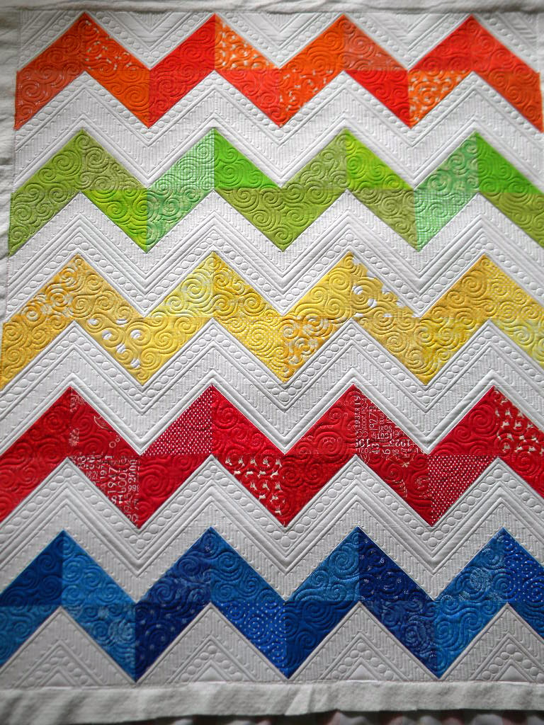 Quilting Designs For Chevron Quilts : Sew Kind Of Wonderful: Lisa s Chevron Quilt