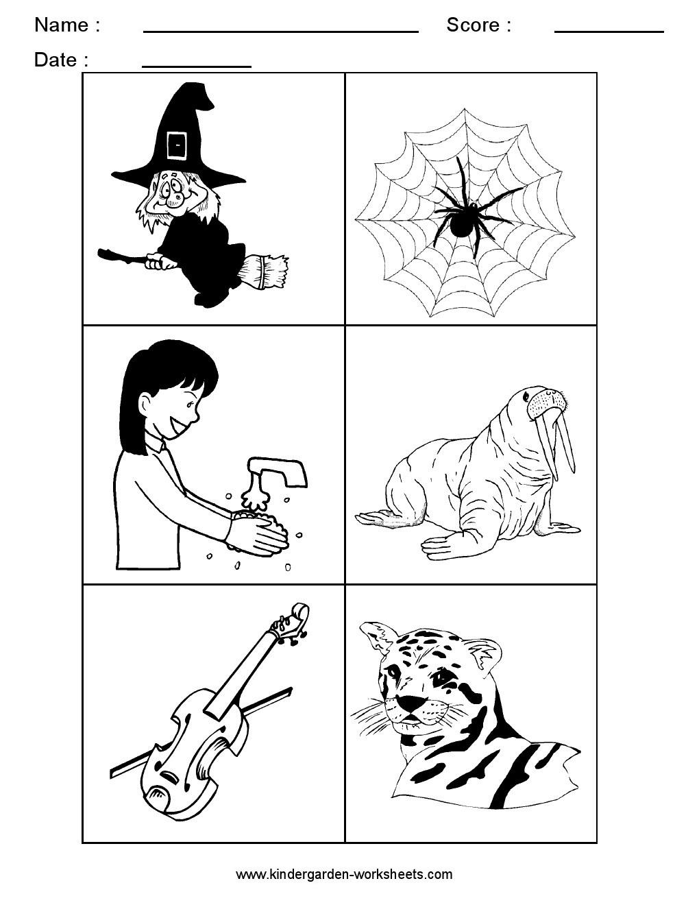 Workbooks sorting kindergarten worksheets : Kindergarten Worksheets: Alphabet Picture Cards - Alphabet Sorting ...