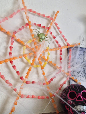 Starburst Candy Corn Spider Web