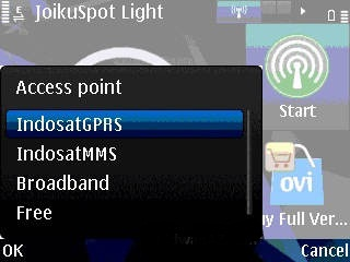 symbian hotspot wifi  joikuspot light2