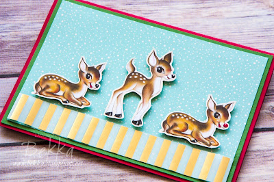 Home for Christmas - Vintage Deer Cuteness