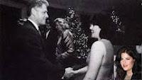 Bill Clinton shaking Monica Lewinsky's hand