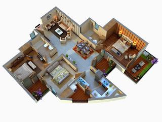 Albaria :: Floor Plans:-3 BHK Super Area - 1590 Sq Ft