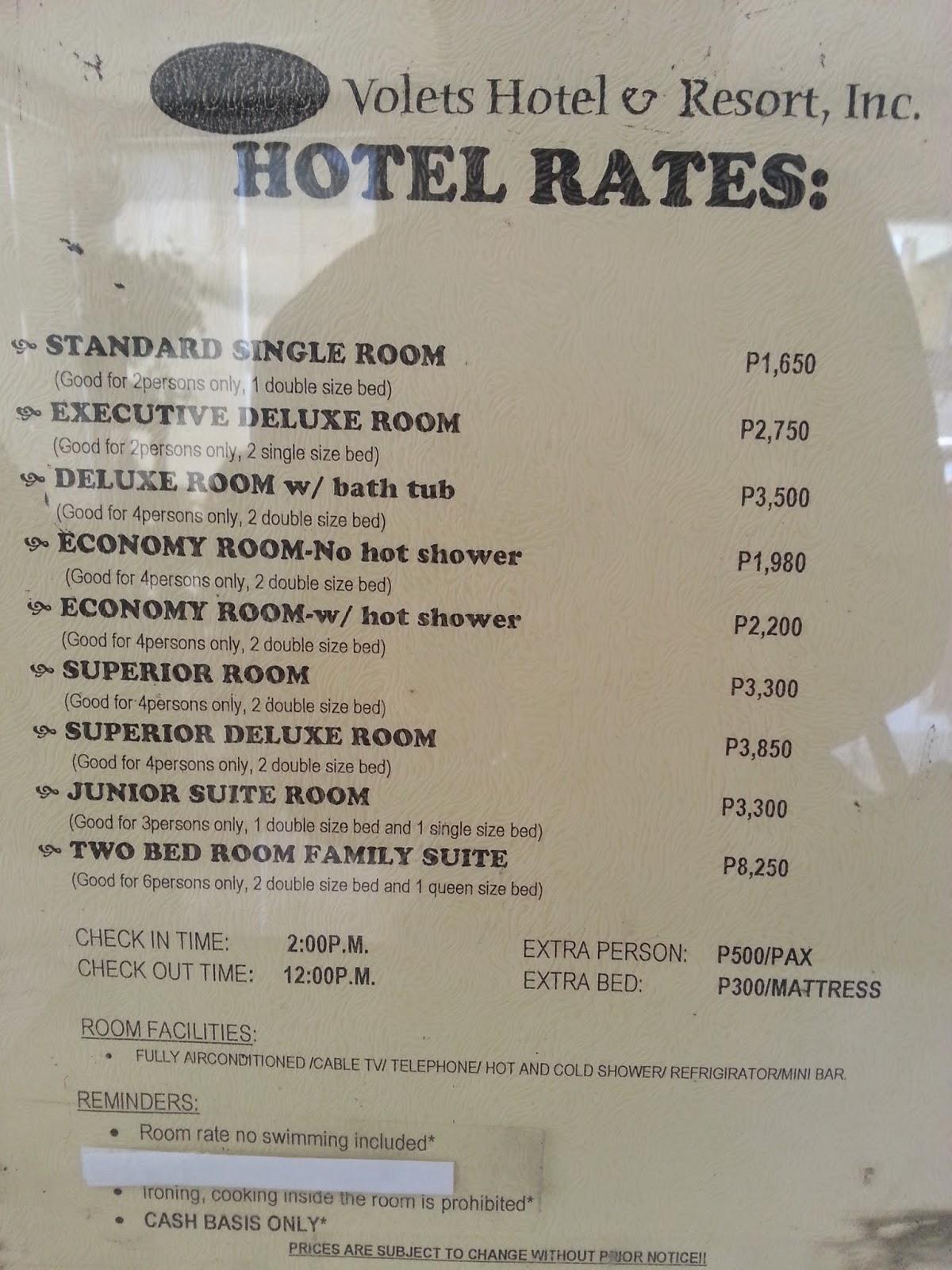Mount Sabrina Resort Room Rates