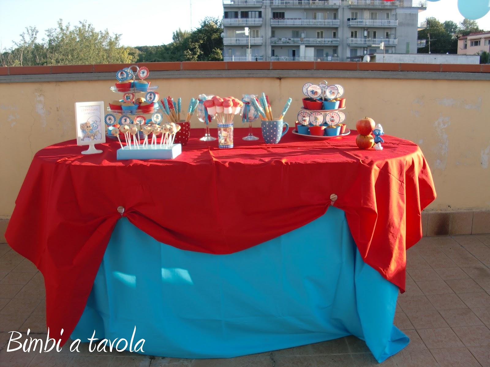 Tavolo Compleanno Topolino : Bimbi a tavola festa a tema puffi per il secondo compleanno di marco