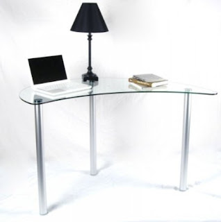 Buy Small Corner Desk For Small Areas: Small Glass Corner Desk