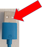 Seam on bottom of USB cord - One Cool Tip - www.onecooltip.com