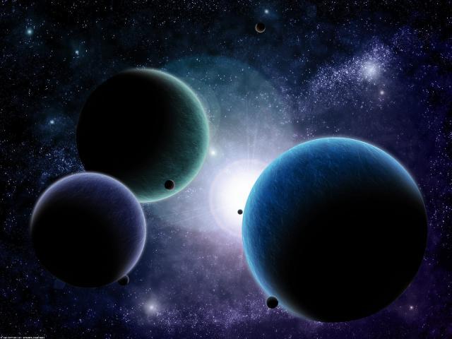Altı parçacıklar arasındaki alana da boş uzay denir boş uzay
