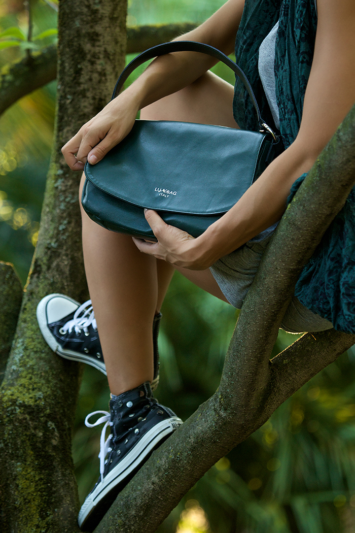 borsa verde come abbinarla