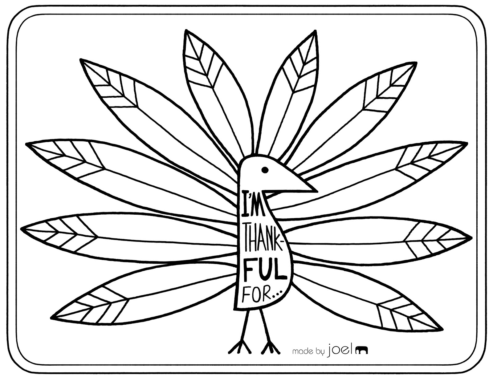 Persnickety image in free printable turkey template