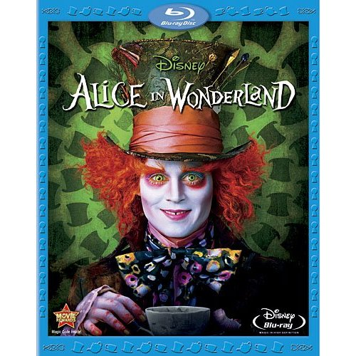 Blu ray cover Alice in Wonderland 2010 animatedfilmreviews.blogspot.com