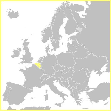 Mapa Bélgica