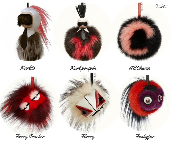 Bag Charms Fendi Fur Monster karlito abcharms furry