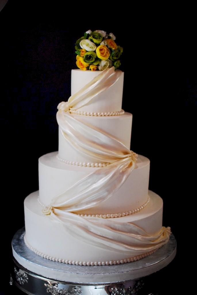 Fondant Swag Wedding Cake