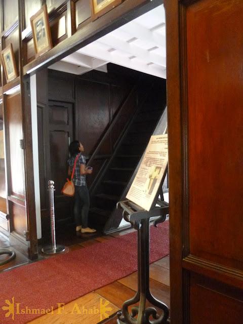 Stairway to the tower of Aguinaldo Shrine