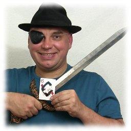 Firmar la carta con espada, truco de magia revelado