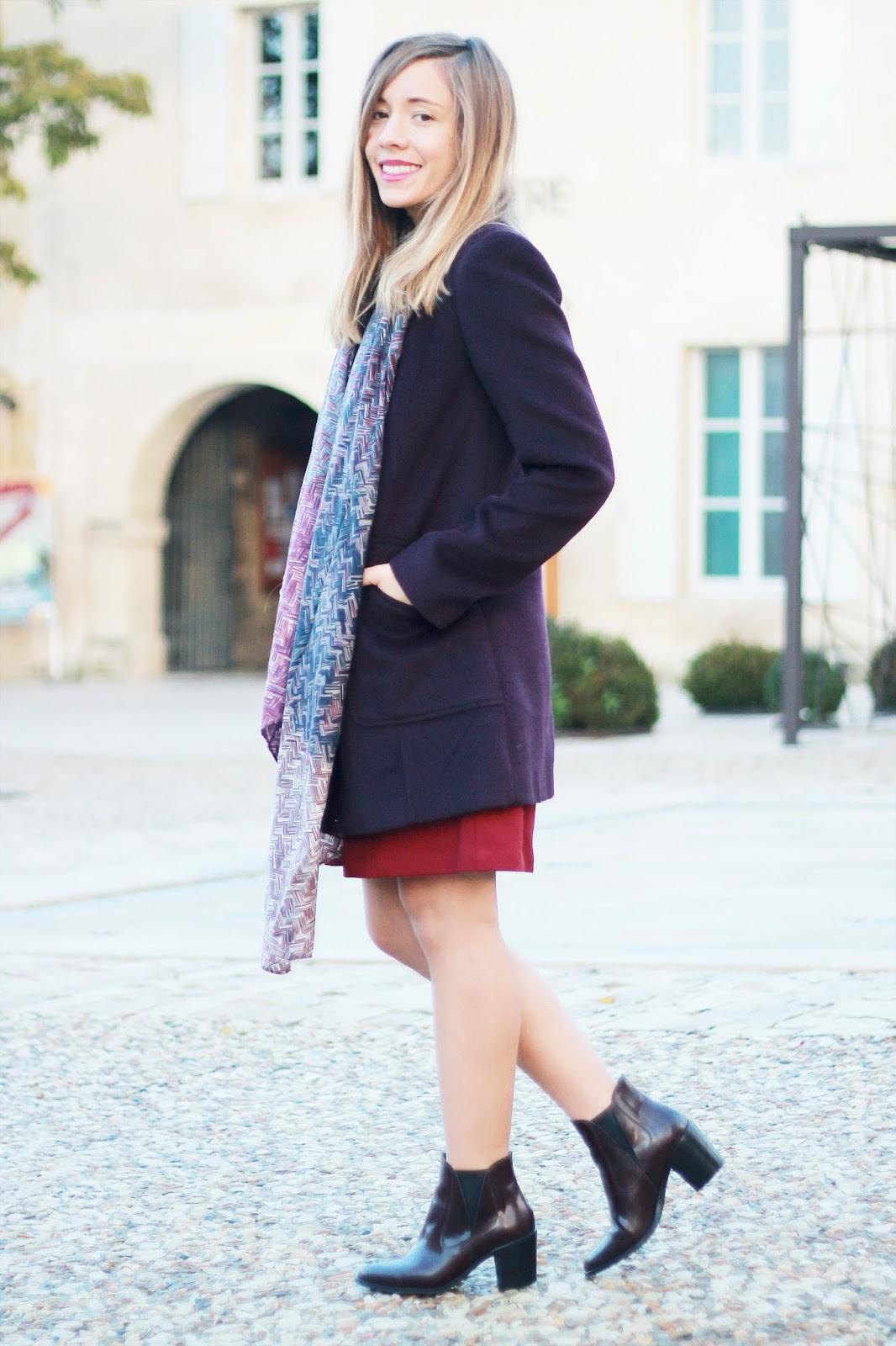 Manteau violet prune hiver dorothy perkins