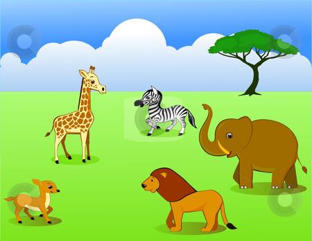 Amper Bae: wild animal cartoons