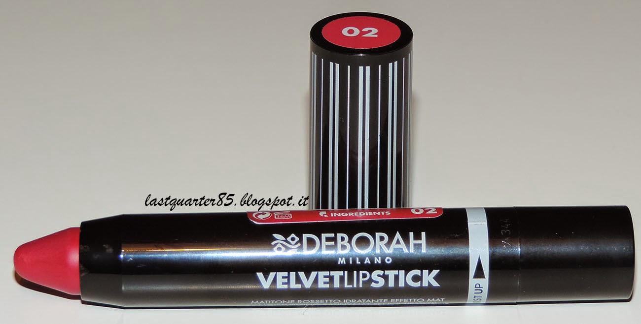 Deborah Velvet Lipstick in 02 Hot Fucsia