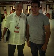 Con Hernan Fabio López Blanco