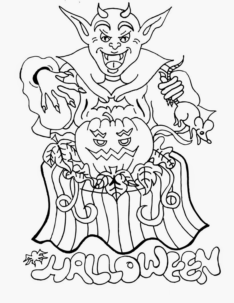 HAppy Scary Halloween Coloring pages - Didi coloring Page