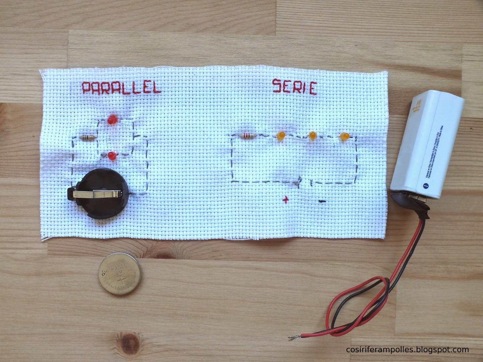 Circuito Seri E Paralelo : Cosir i fer ampolles cómo coser varios leds circuitos serie paralelo