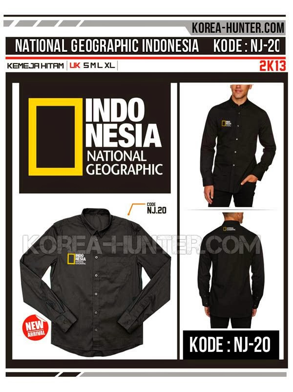 KOREA-HUNTER.com jual murah Kemeja National Geographic - Indonesia | kaos crows zero tfoa | kemeja national geographic | tas denim korean style blazer