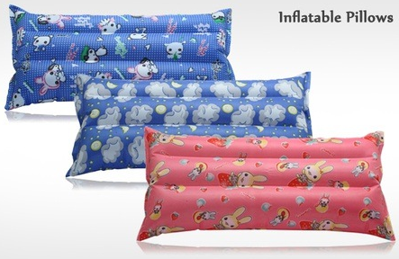 Buy  Inflatable Pillows Pack of 2 for Rs. 166 at Groupon