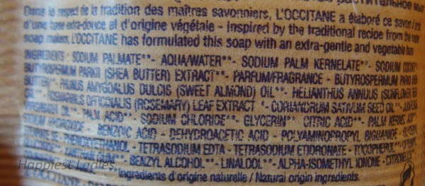 Loccitane Verbena Soap Ingredients